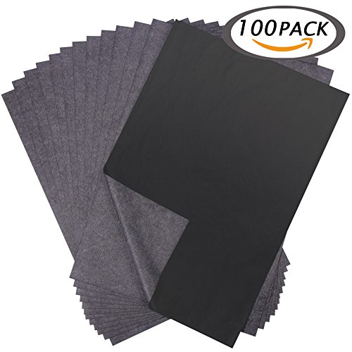 Selizo 100 Sheets Black Carbon Transfer Tracing Paper for Wood, Paper, Canvas and Other Art Surfaces (9 x 13 - Line Glasses See