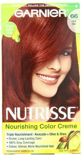Garnier Nutrisse Couleur de cheveux permanente, 66 True Red grenade