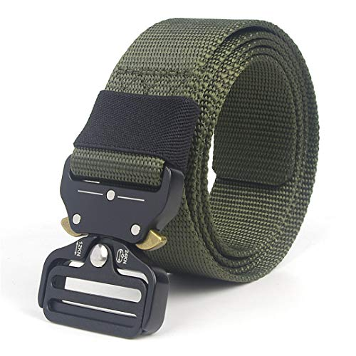 (Tactical Nylon Military Equipment Outdoor Training Belt Automatic Metal Buckle Combat Belt only belt1 135cm)