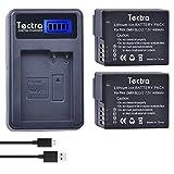 #5: Tectra DMW-BLC12 DMW BLC12e DMCBLC12 BLC12 Batteries (2Pack) + Smart LCD Display USB Charger for Panasonic Lumix DMC-FZ200, DMC-FZ1000, DMC-G5, DMC-G6, DMC-G7, DMC-GX8, DMC-G85, DMC-GH2