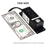 Power Strip with usb, ICEELEC 2 Outlets 2 USB Ports 10 ft Heavy Duty Extension Cord Mountable Under The Desk/Table and Wall Mounting Power Center