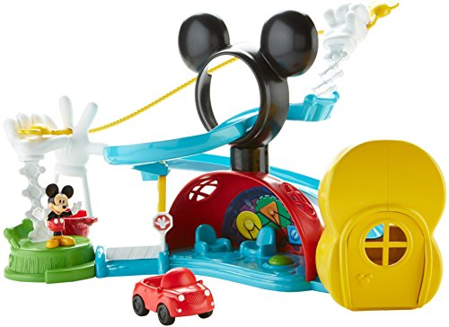 Fisher-Price Disney Junior Mickey Mouse Clubhouse Zip, Slide and Zoom Clubhouse Playset -