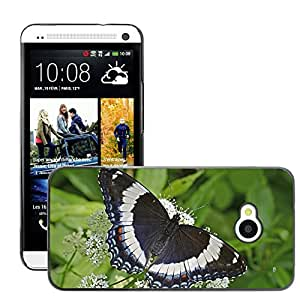 Super Stellar Slim PC Hard Case Cover Skin Armor Shell Protection // M00126034 White Admiral Butterfly Insect // HTC One M7