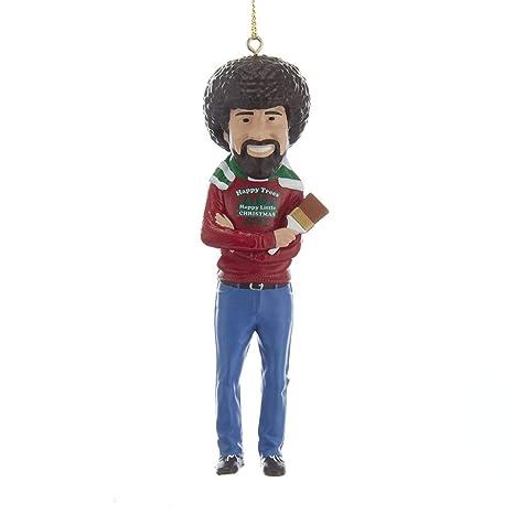 Amazon.com: Kurt Adler Bob Ross - Figura decorativa: Home ...
