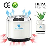 Houselog Air Purifier with True HEPA Filter Portable Aromatherapy Cleaner with Flowerpot Cigarette