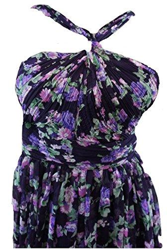 TopshopDamen Kleid, Geblümt Violett Purple Floral