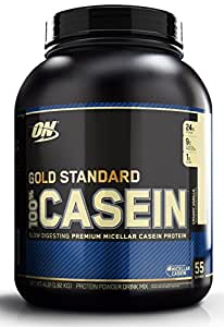 Optimum Nutrition Gold Standard 100% Casein Protein Powder, Creamy Vanilla, 4 Pound