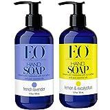 EO Botanical French Lavender and Lemon Eucalyptus Liquid Hand Soap Bundle With Lavender