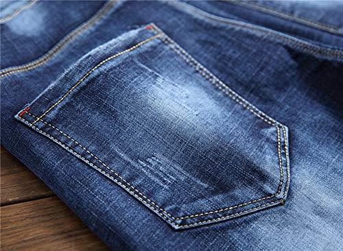Della Di Cotone Elasticità Maschi Jeans Metà Vita 1 Pantaloni Versaces Slim Color Piccoli Vestibilità Piedi q4wvw5