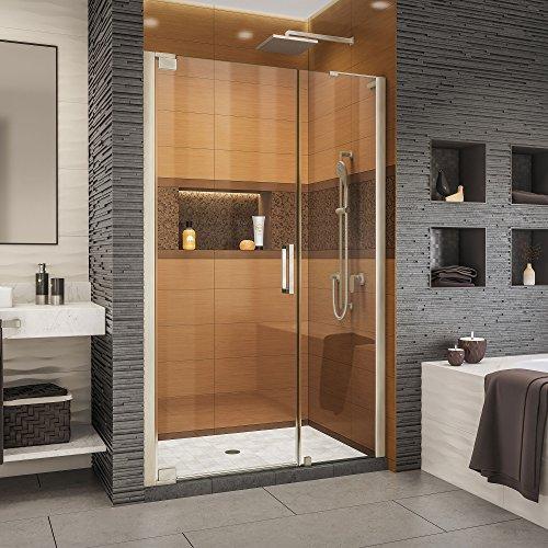 DreamLine Elegance-LS 44 3/4 - 46 3/4 in. W x 72 in. H Frameless Pivot Shower Door in Brushed Nickel
