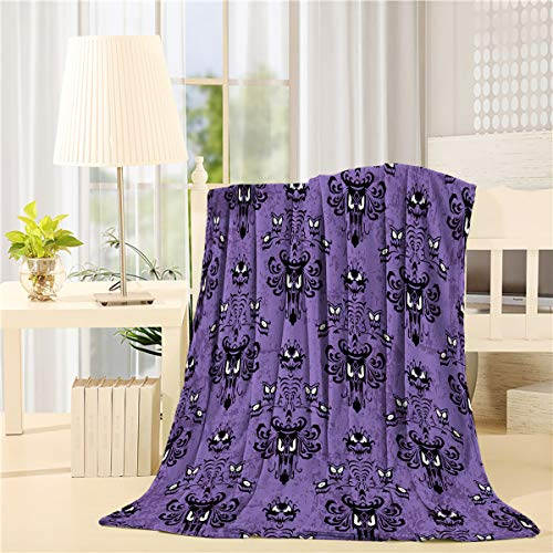 - DaringOne Comfy Plush Fleece Throw Blanket 50x80 inch Halloween Soft Coach Blanket Lightweight Stadium Blanket Haunted Mansion