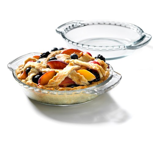 Anchor Hocking Oven Basics Glass 6 Inch Mini Pie Plate, Set of 2 (Anchor Hocking Cake Plate)