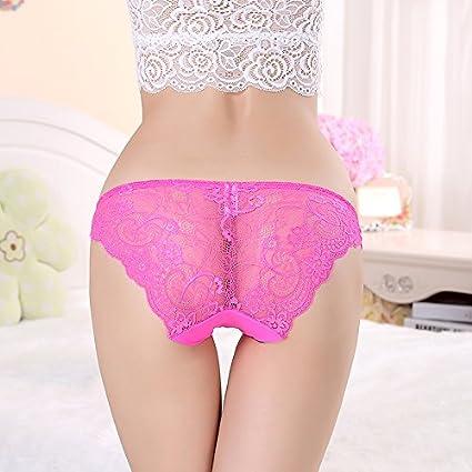 RRRRZ*El sabor de ropa interior femenina encaje sense 3 transparente de baja altura pantalones