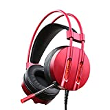Cheap ET Robot Gaming Headset with Mic Noise Reduction Game Earphone 7.1 Surround Sound Red LED Lighting (Red)