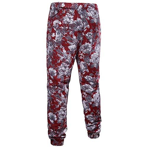 Da Allenamento Con 3d Floreale 3xl Estivi Di Mode In Sportivi Stampa Pantaloni Color Rosso Marca Size Lunghi Lino Casual Jogging IFCxq