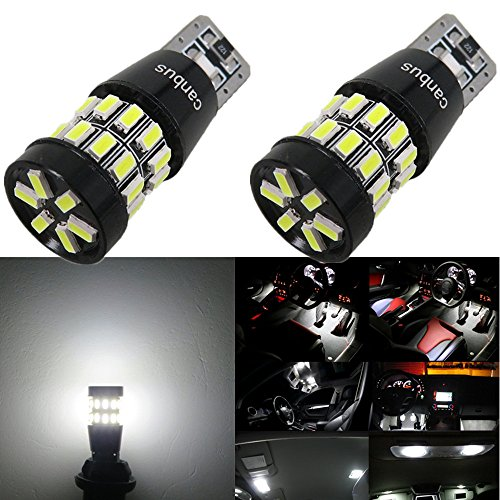 Long Aluminum Inner Side Box - WLJH 2pcs White LED Bulb 3014SMD 168 194 2825 Canbus Error Free LED Light Bulb for Car/Motor Interior Dome Parking Side Dashboard License Number Plate Light Bulbs Lamp