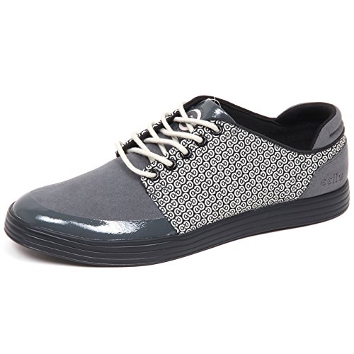 Man nero Suede Uomo Sneaker without Tissue Ccilu Box E8138 Grigio Shoe eco black Grey zqRPaO