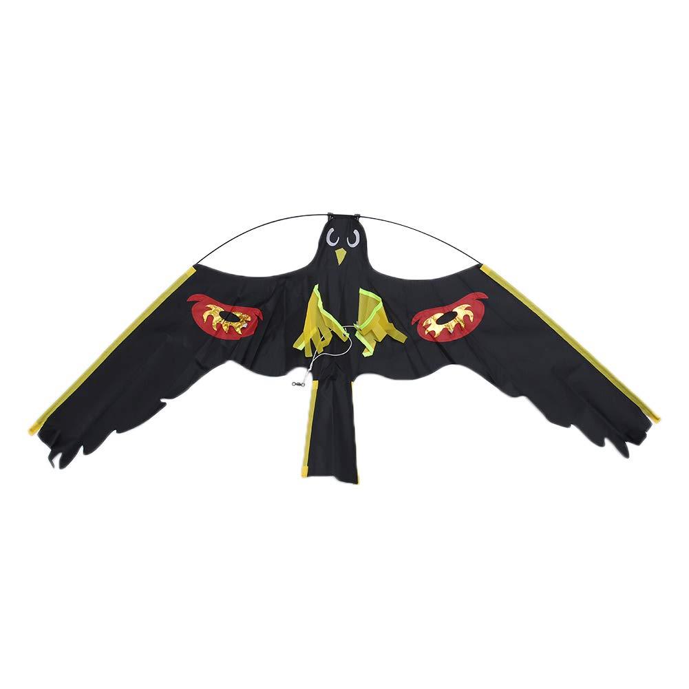 Drawoz P/ájaro espantap/ájaros Ahuyentador Flying Hawk Kite Kit para jard/ín de la casa de la Yarda