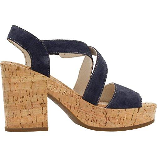 Stonefly Carol 4, Sandalias con Cuña Para Mujer Azul