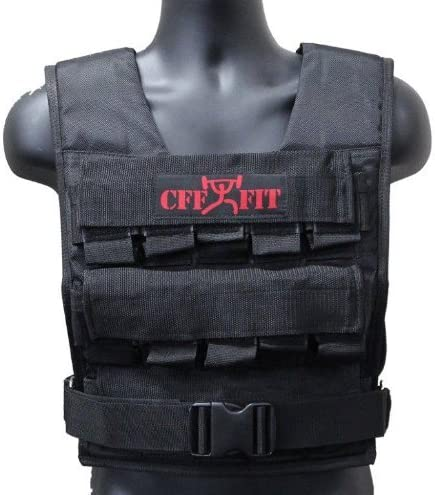 North Gym Adjustable Weighted Vest Incl. 2 Innovative Moulded Weights for Best fit 14lbs 20lbs