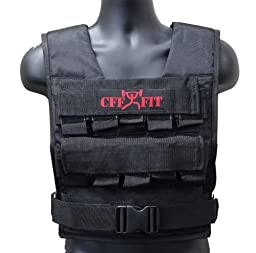CFF  30 Kgs / 66 Lbs Adjustable Weighted Short Vest (Shell Only - Weights Not Included)