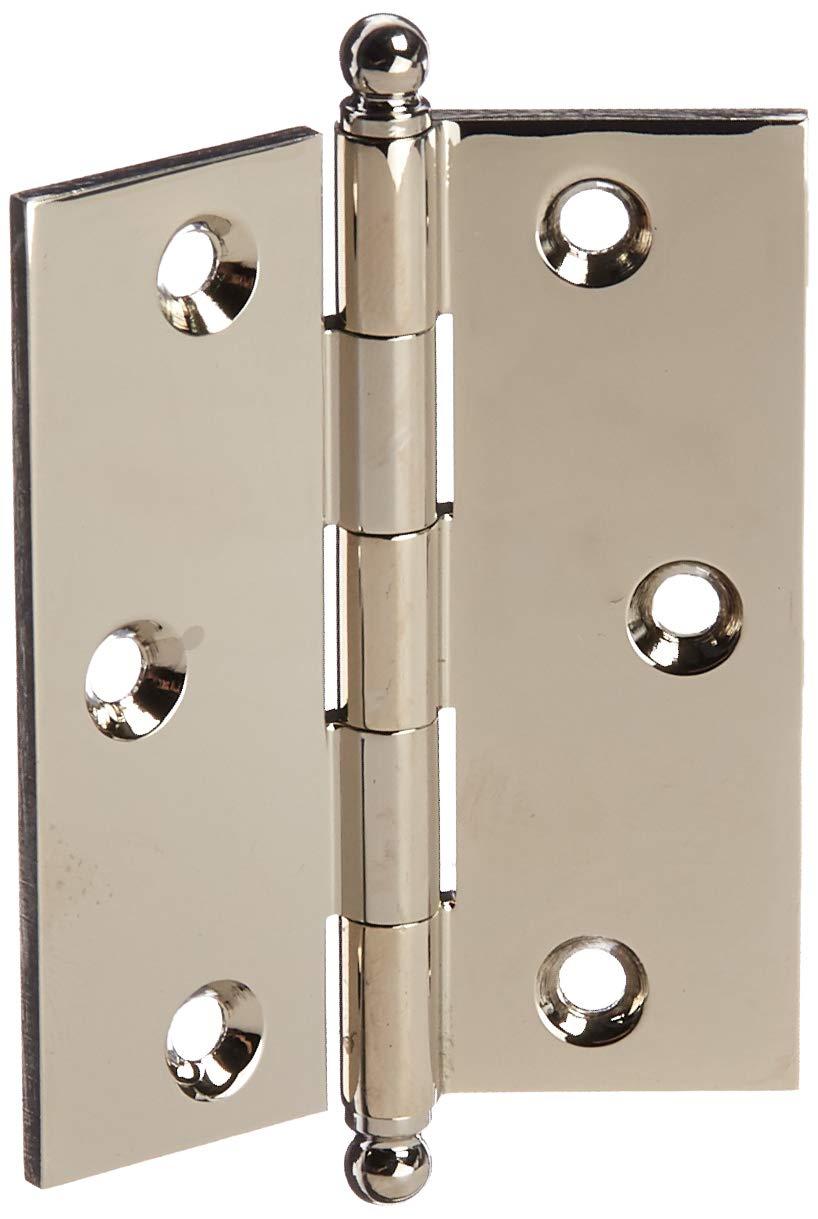 Baldwin 1025055BAL Square Lifetime Cabinet Hinge Bright Nickel
