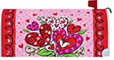 Valentine's Hearts - Mailbox Makover Cover - Vinyl witn Magnetic Strips for Steel Standard Rural Mailbox - Copyright, Licensed and Trademarked by Custom Decor Inc.