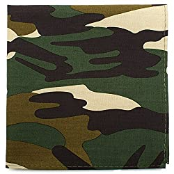Ox and Bull Trading Co Mens Camo Print Cotton Pocket Square (Green)