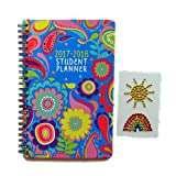 Special Best Seller Flowers Design One Year Daily Weekly Monthly 2017 to 2018 Planner & Sticker Set Academic High School Format Spiral Notebook Back School Supplies For Sale Student Women Girl