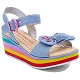 Juicy Couture JC Oceana Kids Girls Fashion Open Toe Wedge Sandal Denim 3 Little Kid