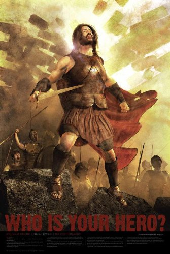 Christian Bible Hero Poster Matte Finish Print - Joshua at Jericho - Joshua 6