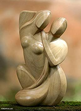 NOVICA 21544 Family Love Wood Statuette