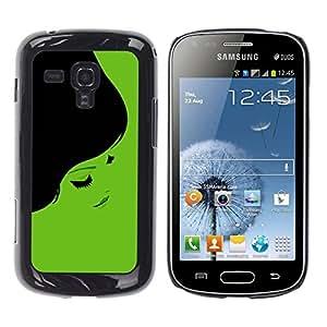 TopCaseStore / la caja del caucho duro de la cubierta de protección de la piel - Minimalist Beautiful 70S Woman - Samsung Galaxy S Duos S7562