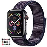 VATI Band Compatible with Watch Band 38mm 42mm 40mm 44mm Soft Breathable Nylon Sport Band Adjustable Wrist Strap Replacement Band Compatible with 2018 Watch Series 4/3/2/1
