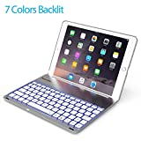 Favormates Keyboard Case for iPad 2018 (6th Gen) - iPad 2017 (5th Gen) -iPad Air 1 - Thin & Light - Aluminum Alloy - Wireless/BT - Backlit 7 Color - iPad Case with Keyboard (only for 9.7 inch ipad)