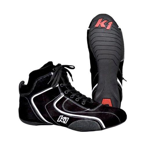 K1 Race Gear 14-PIL-N-9.5 Pilot Black (Size 9.5) Kart Racing Shoes Black Kart Racing Shoe