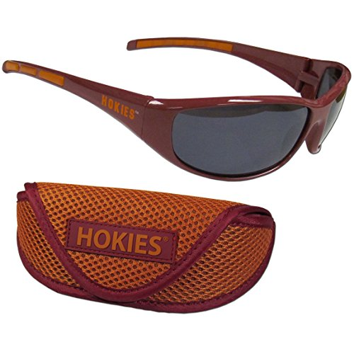 Siskiyou NCAA Virginia Tech Hokies Wrap Sunglasses & Sport Case, ()