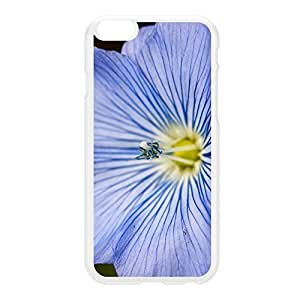 Blue Flower White Hard Plastic Case for iphone 6 4.7 by Mick Agterberg + FREE Crystal Clear Screen Protector