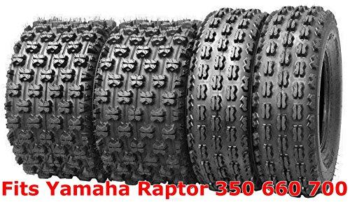 Tires 400ex Honda ((4) 21x7-10 & 20x10-9 Yamaha Raptor 350 660 700 GNCC Racing ATV Tire Set)
