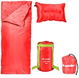 Wealers Lightweight Camping Sleeping Bag Set – Includes: Zip Up Bedroll| Self-inflating Pillow| Water Resistant Carrying Case| Storage Tote – for travel, sleepovers, overnights, hiking, and more Review