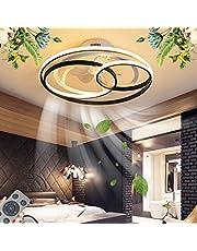 LED plafondventilator met verlichting Modern dimbaar Wind/lichtbron verstelbare ventilator Plafondverlichting Ultrastille Ventilatorlicht Acryl lampenkap Woonkamer plafondlamp ventilator,53CM/50W