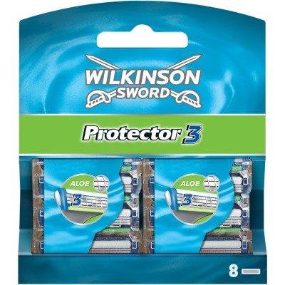 - Wilkinson Sword Protector 3 Refill Cartridges Razor Blades, 8 Count (Comparable to Schick Protector)
