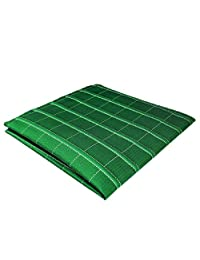 """Shlax&Wing Green Checkered Mens Pocket Square Unique Design Large 12.6"""" For Business"""