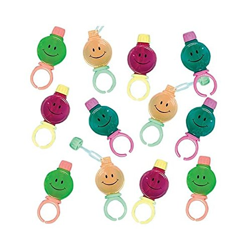 Smile Bubble Rings | Party Favor | 12 Ct.