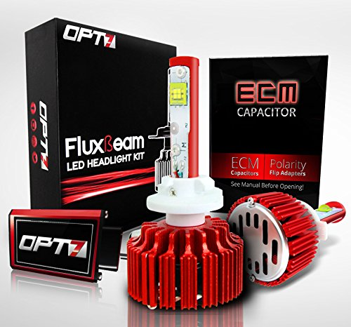 OPT7 Fluxbeam LED Fog Light Kit w/ Clear Arc-Beam Bulbs - 880 (893, 899) - 60w 7,000Lm 6K Cool White CREE - 2 Yr Warranty (Hid Fog Light Conversion Kit 881)