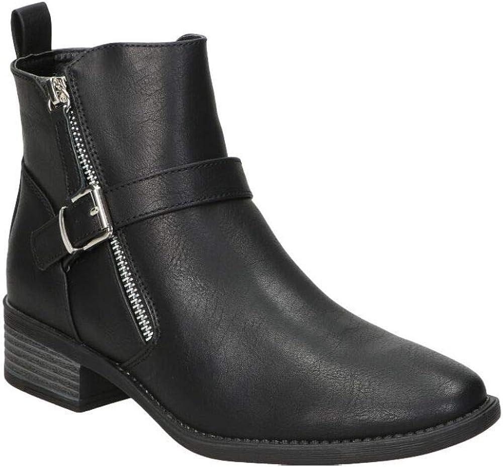 Maria Mare Damen Celine Mode-Stiefel Brush Negro Negro