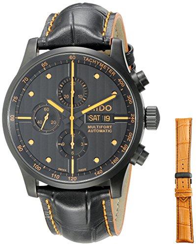 mido-mens-mido-m0056143605122-multifort-analog-display-swiss-automatic-black-watch-with-extra-orange