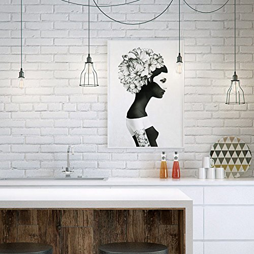 PrecisionDecor 3D Brick Wall Stickers Panel Self-Adhesive Peel and Stick White Faux Brick for Wall Decor 30X28INCH (20 PC) by PrecisionDecor (Image #2)