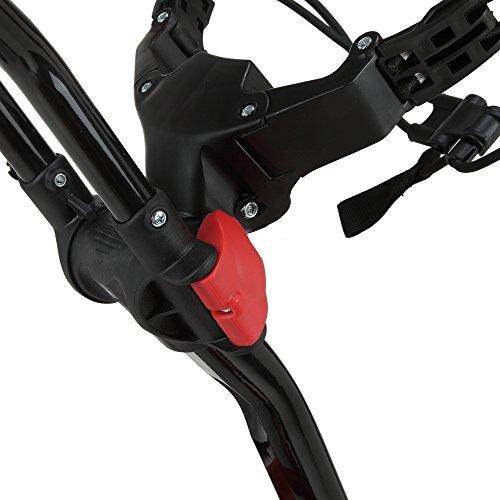 Caddymatic Golf 360° SwivelEase 3 Wheel Folding Golf Cart Black/Red by Caddymatic (Image #4)