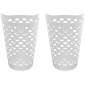 Tall Plastic Laundry Basket Extraordinary Amazon Starplast Tall Flex Laundry Basket In White Set Of 60